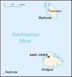 Antigua and barbuda map