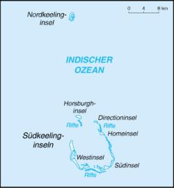 Karte der Kokos-Inseln