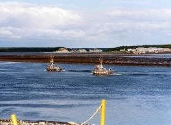 Lachsboote auf dem Naknek River