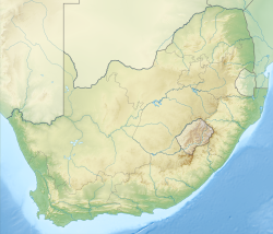 Relief location map of South Africa