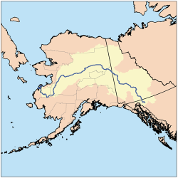 Map of the Yukon River Watershed